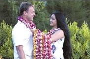 Hawaiian Lei Greeting at Kona Airport
