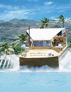 Hawaii Duck Tours takes you sightseeing by land and by water!